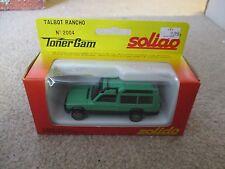Solido Toner Gam II Talbot Rancho Matra #2004 MIB See My Store