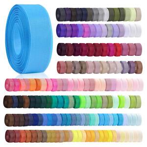 "10 Meters 3/4""20mm Grosgrain Ribbon Craft Hair BowWedding Decor DIY Lots OBRN28"