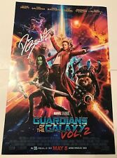 DAVE BAUTISTA SIGNED 12X18 PHOTO GUARDIANS OF THE GALAXY VOL 2 MOVIE POSTER COA