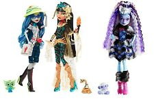 Monster High SDCC 2017 Ghoulia Yelps & Cleo AND Abbey Bominable Collector Dolls