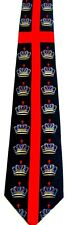 NEW RELIGIOUS CROWN RED CROSS NOVELTY NECKTIE NECK TIE STEVEN HARRIS SLEEVED