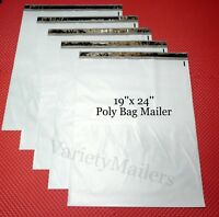 """12 Large 19""""x 24"""" Poly Bag Envelopes Plastic Shipping Mailing Postal Mailers"""