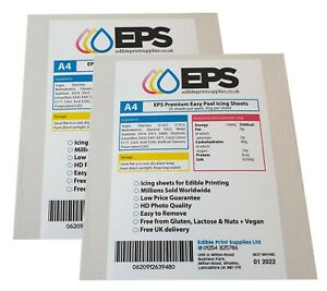 Icing Sheets Plain Blank A4 Pack for Printing - 2 x 25 Sheet Packs