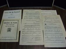 ANTIQUE MUSIC IS FUN FOR EVERYONE BY EAR WAY C1940 PLUS 1929/37/38 Sheet Music