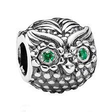 100% Authentic PANDORA 'Wise Owl' Charm with S925 ALE S.Silver & Cz 791211CZN