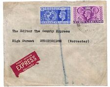 E20 1948 GB OLYMPICS EXPRESS MAIL *Stourbridge* Worcs Unusual Commercial Usage