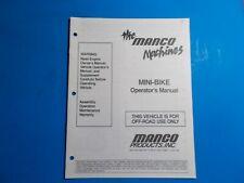 1990 Manco Machine Off Road Vehicle Mini-Bike Operators Manual