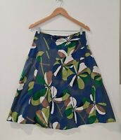 Suzanne Grae Women's Floral Skirt Size 8 A-Line Style Multicolored Zip Closure
