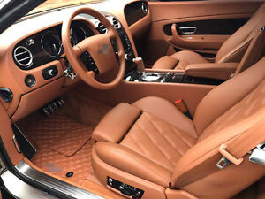 Bespoke Terracotta Leather Carmats Fully Tailored fit Bentley Continental GT I