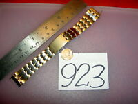 'Vtg. SEIKO Japan made B252 S Steel Two Tone Men's Watch BAND 19mm lug 7009 6309