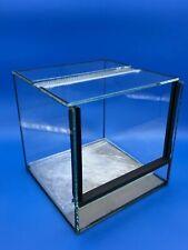 Terrario in vetro 15x15x15h , teca per rettili, migali, anfibi,