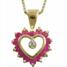 Gold Ruby Sterling Silver Fine Necklaces & Pendants