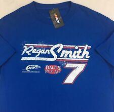 REGAN SMITH NASCAR Racing Graphic T-Shirt L Large #7 Blue NWT New NICE!