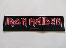 Iron Maiden - Logo Superstrip Patch / Aufnäher Heavy Metal Kutte NWOBHM