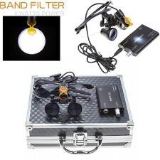 Dental 5w Portable Led Headlight Filter For 35x420mm Dental Loupes Aluminum Box