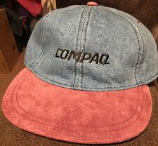 Vintage Compaq Computers Denim Cap 90s Strapback Hat