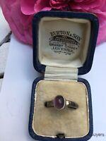Vintage Minimalist Amethyst 925 SILVER RING  Size L 1/2