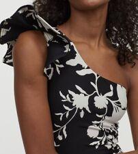 H&M Johanna Ortiz Black One Shoulder Swimsuit Size 8 BNWT