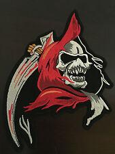 Grim Reaper Patch Aufnäher  22x16,5cm- Sensenmann Kutte MC Biker Chopper