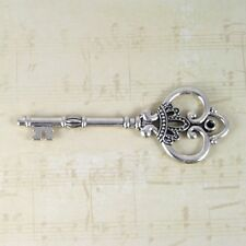 2 new Anniversary 25th silver keys old look antique vintage skeleton wedding