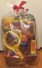 WONDER WOMAN EASTER BASKET THERMOS PADDLE BALL HEADBAND BUBBLES