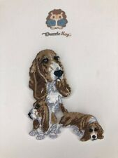 Basset Hound Dog Patch 3 in One- Iron on/Sew on- Applique