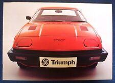 TRIUMPH TR7 SPORTS CAR Sales Brochure May 1976 #3214A