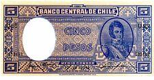 Chile ... P-102 ... 5 Pesos ... 9-IV-1944 ... *UNC*.