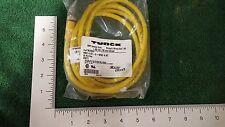 Turck Rkc4.4T-2-Wsc4.4T Cord 4Pin 2M Euro Female-Straight Male 90Degree (A-11)