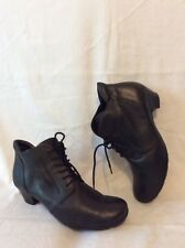 Gabor Black Ankle Leather Boots Size 4.5