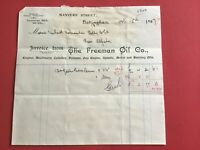 The Freeman Oil Co 1907 Engine Machinery Dynamo Nottingham   receipt R33155