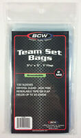 """3 3//8/"""" x 5/"""" 200 2 pack BCW Resealable Team Set Bags"""