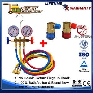 A/C Refrigeration Kit Manifold Gauge Set R22 R12 R134A Air Conditioner 5 feet AU