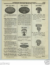 1919 PAPER AD Rugby Type Football Ruko Morrell Nose Guard Leather Helmet Harness