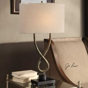 """TALEMA INDUSTRIAL DECOR TWISTED STEEL BODY 30"""" ACCENT TABLE LAMP UTTERMOST"""