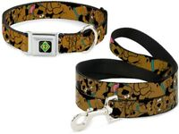 Buckle Down Seatbelt Dog Collar or Leash Scooby Doo - Brown S M L - Made in USA