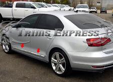 2011-2017 Volkswagen Jetta 4Pc Stainless Steel Flat Body Side Molding Trim Door