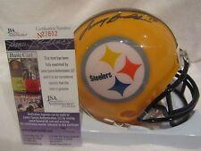 Terry Bradshaw Autographed Pittsburgh Steelers Mini Helmet - JSA Cert