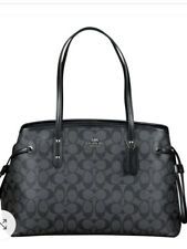 Coach F57842 Signature Drawstring Carryall Shoulder Tote in Smoke $350
