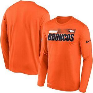 Denver Broncos Nike Youth Boys Sideline Impact Legend DRI-FIT Long Sleeve Shirt