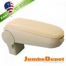 US Beige Cloth Center Console Armrest Box Fit 99-04 VW Golf/Jetta/Bora/GTI MK4