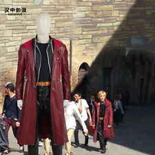 HZYM Fullmetal Alchemist Edward Elric's Cosplay Costume Leather Coat Trench Coat