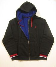c5ed34ff4 Polo Ralph Lauren Mens Black Fleece Lined Full-zip Drawstring Hoodie XL