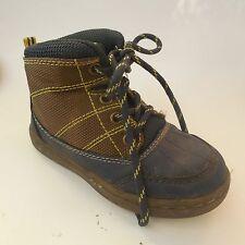 Toddler Boys Kids OshKosh B'gosh Grayson Ankle Boots Shoes SZ 8  Brown/Blue Snow