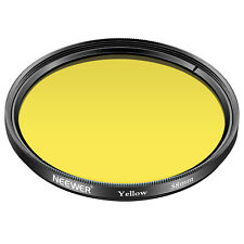 Neewer 58mm Yellow Lens Filter for Canon EOS Rebel T6i T6 T5i T5 T4i T3i DS