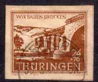 SBZ Thüringen 115 c bessere Farbe gestempelt Pracht geprüft BPP
