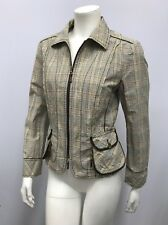 APRIORI JACKET PLAID COOL POCKETS WITH ZIPPERS PERFECT FOR SPRING OR SUMMER 8 S