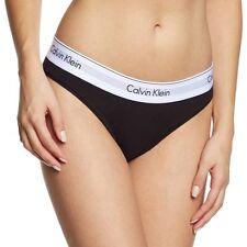 Calvin Klein Mujer Moderna Algodón Bikini Breve, Negro