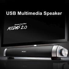 MIDAS-2.0 USB Multimedia Altavoz Barra Música HiFi Ordenador Portátil PC Laptop