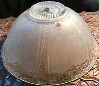Lovely Design Glass Art Deco 3 Hole Ceiling Lamp Light Shade 1920s-30s
